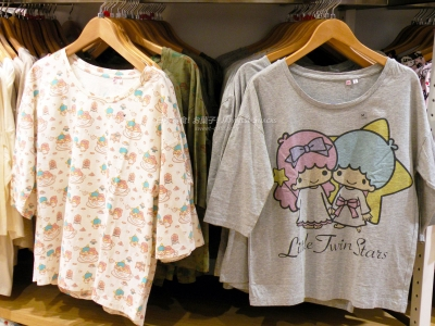 Hellosmile UNIQLO × Sanrio三麗鷗 - 雙星娃娃Little Twin Stars KiKi & LaLa UT-Shirt
